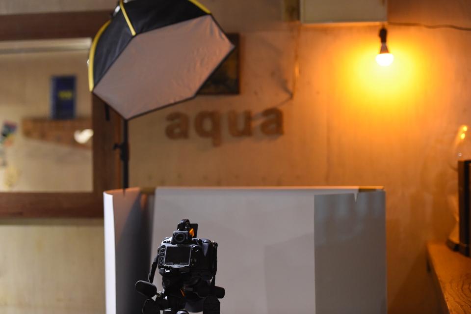 cafe restaurant aquaメニュー撮影